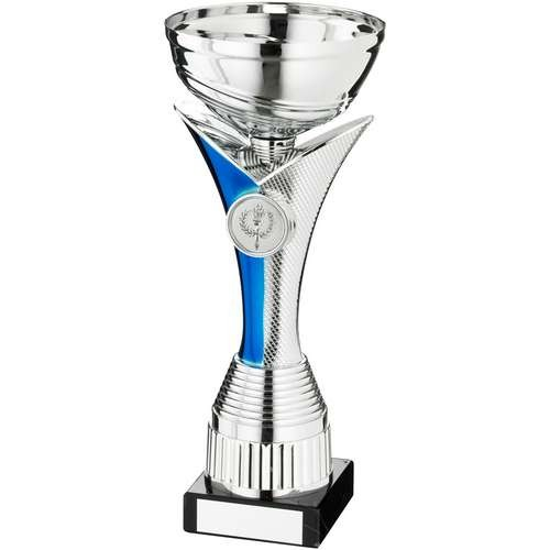 Silver/Blue V Stem Trophy