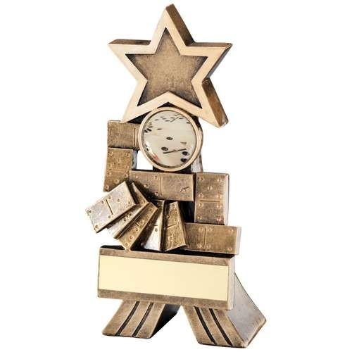 Bronze/Gold Dominoes Shooting Star Trophy
