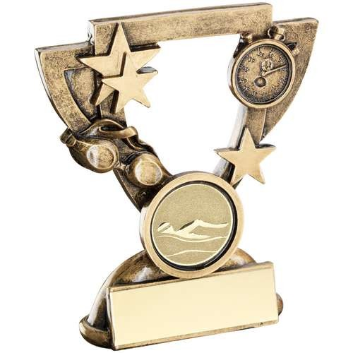 Bronze/Gold Swimming Mini Cup Trophy