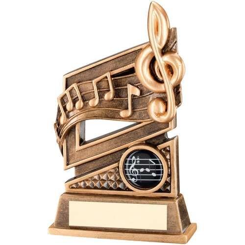 Bronze/Gold Music Diamond Series Trophy