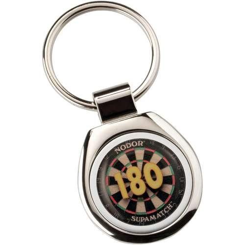 """Darts """"180"""" Metal Keyring - Round"""