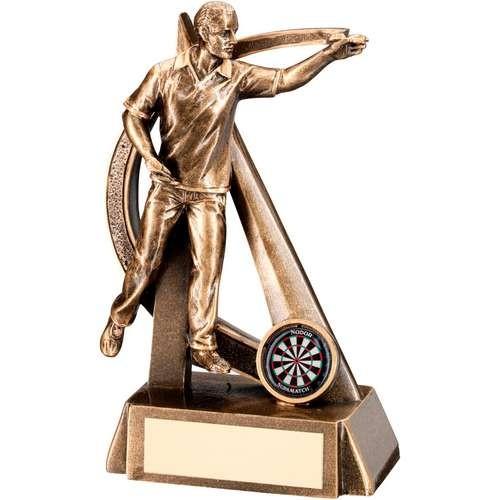 Bronze/Gold Male Darts Geo Figure Trophy