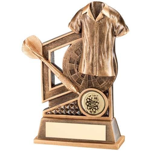 Bronze/Gold Darts Diamond Series Trophy
