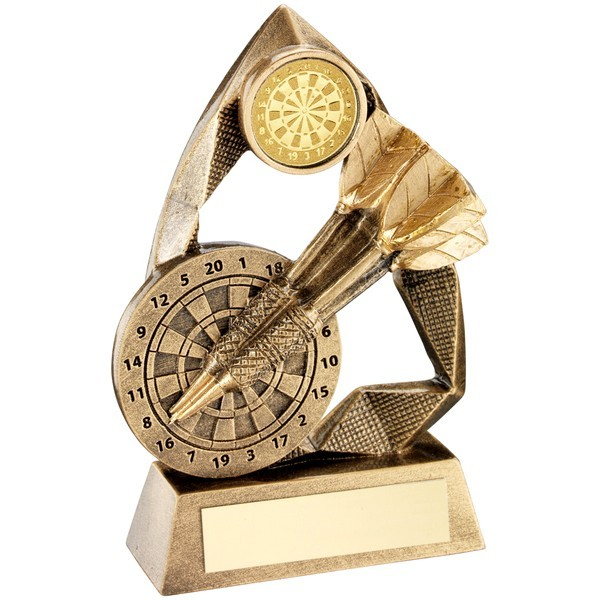 Bronze/Gold Darts Diamond Collection Trophy