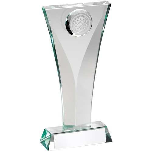 Jade Glass Darts Plaque Trophy