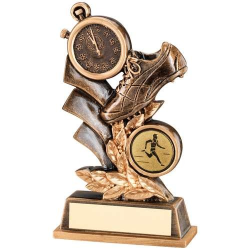 Bronze/Gold Athletics Leaf Plaque Trophy