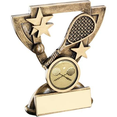 Bronze/Gold Squash Mini Cup Trophy