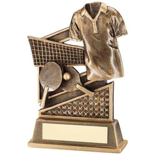 Bronze/Gold Table Tennis Diamond Series Trophy