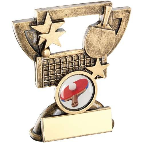 Bronze/Gold Table Tennis Mini Cup Trophy