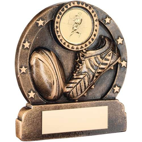 Bronze/Gold Resin Rugby Trophy