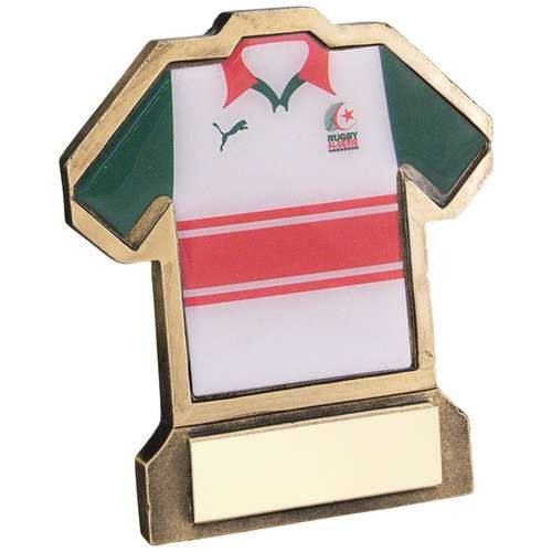 Bronze/Gold Resin Rugby Shirt Trophy