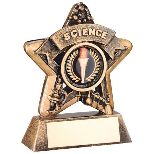 Mini Star 'Science' Trophy - Bronze/Gold Science