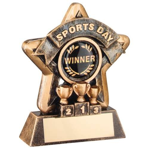 Mini Star 'Sports Day' Trophy - Bronze/Gold Sports Day