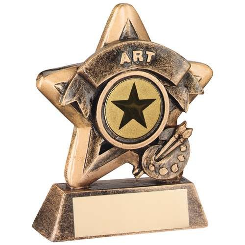 Mini Star 'Art' Trophy - Bronze/Gold Art