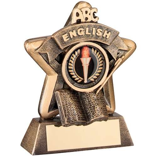 Mini Star 'English' Trophy - Bronze/Gold English