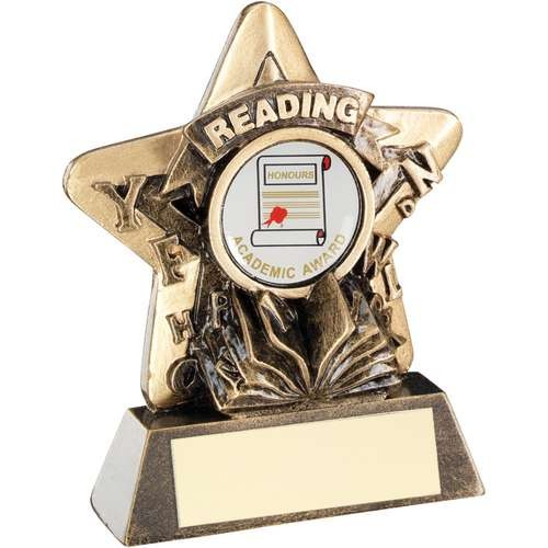 Bronze/Gold Reading Mini Star Trophy
