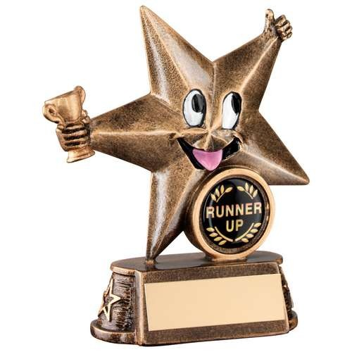 Bronze/Gold Resin Generic 'Comic Star' Figure Trophy