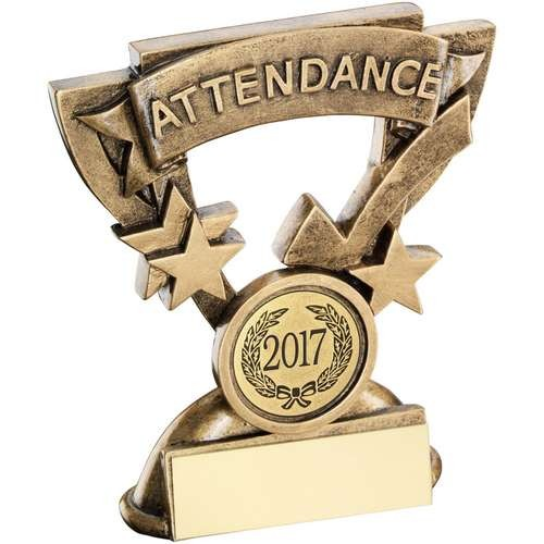Bronze/Gold Attendance Mini Cup Trophy