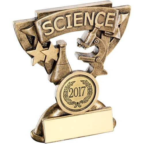 Bronze/Gold Science Mini Cup Trophy