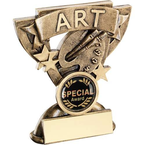 Bronze/Gold Art Mini Cup Trophy