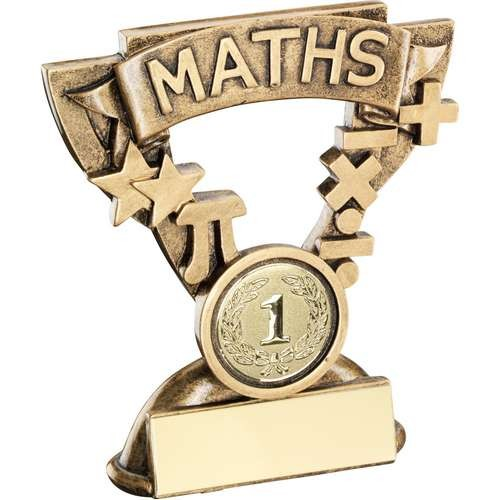 Bronze/Gold Maths Mini Cup Trophy