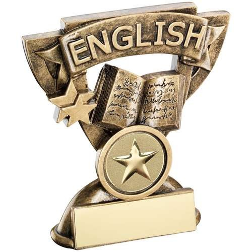Bronze/Gold English Mini Cup Trophy