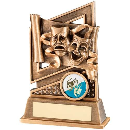 Bronze/Gold Drama Diamond Series Trophy