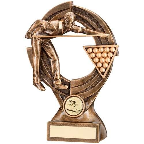Bronze/Gold Pool/Snooker 'Quartz' Figure Trophy