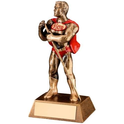 Bronze/Gold/Red Resin Pool/Snooker 'Hero' Trophy