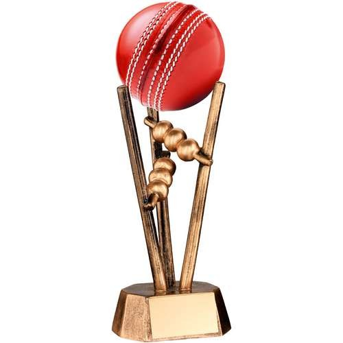 Bronze/Gold Resin Cricket Ball Holder