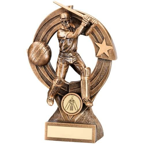 Bronze/Gold Cricket Batsman 'Quartz' Figure Trophy