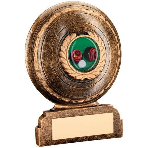 Bronze/Gold Resin Lawn Bowls Trophy