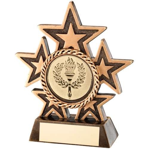 Bronze/Gold 5 Star Holder Trophy
