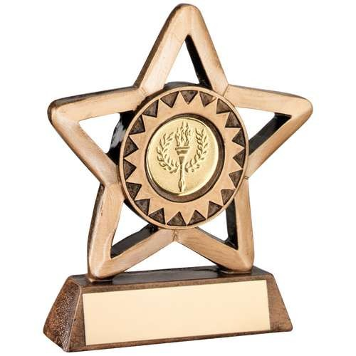Bronze/Gold Resin Generic Mini Star Trophy