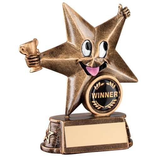 Bronze/Gold Resin Generic 'Comic Star' Figure Trophy