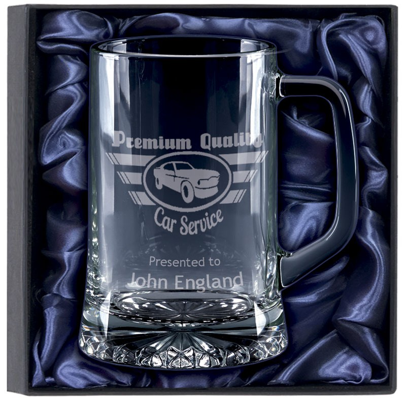 Trojan Glass Tankard Gift Set