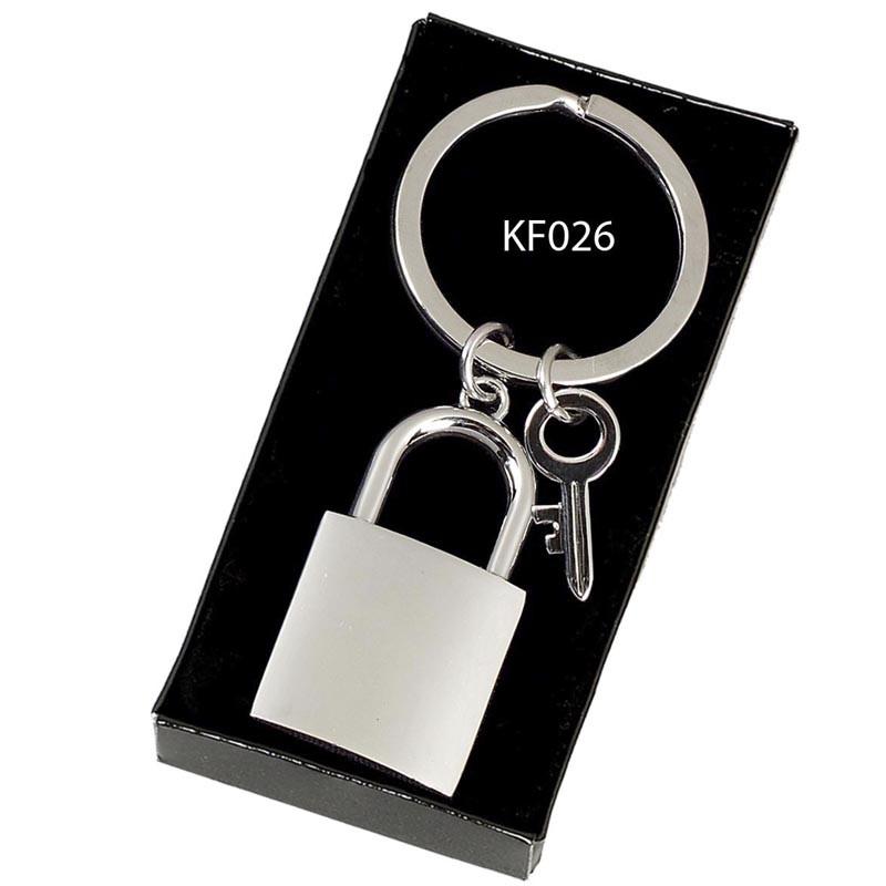 Crown-Padlock Key Ring