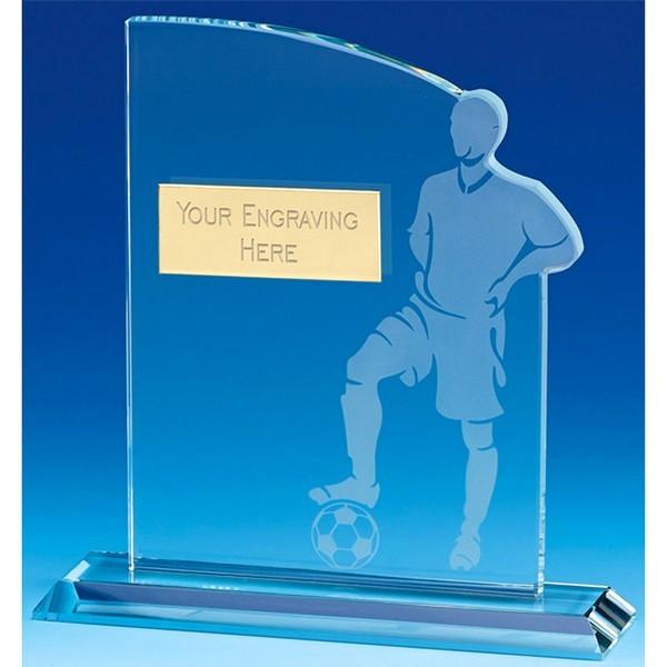Contour Football Glass