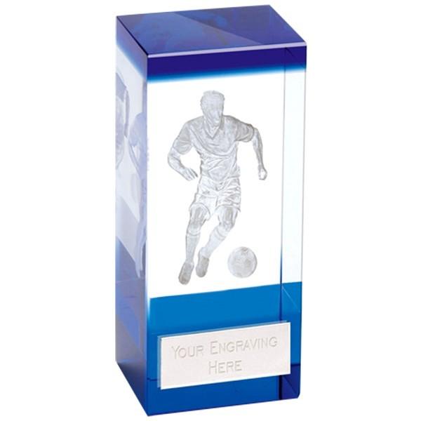 Orbit Blue Football Crystal