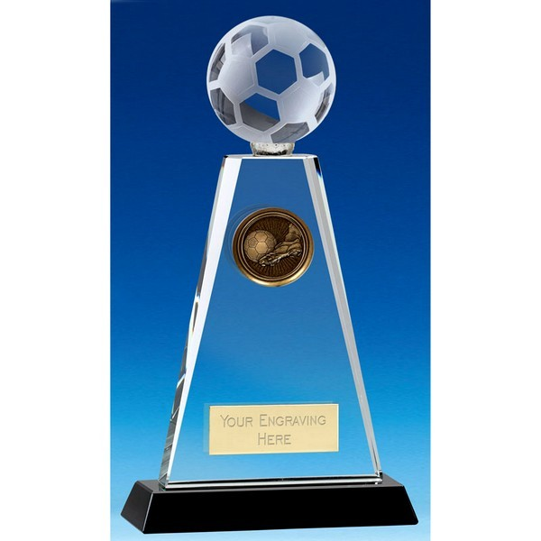 Trio Football Crystal Trophy