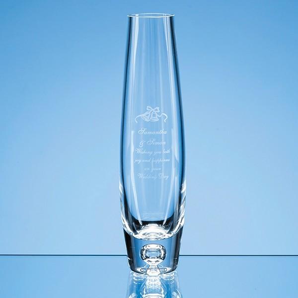 Handmade Tall Bubble Base Oval Vase