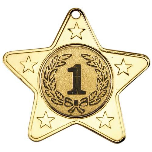 Star Shaped Medal with 5 Mini Stars