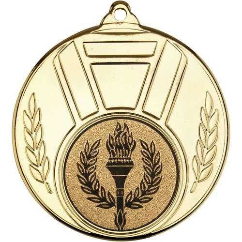 Ribbon and Leaf Medal