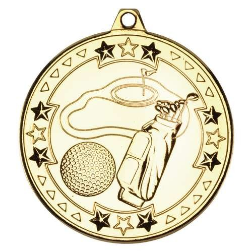 Golf 'Tri Star' Medal