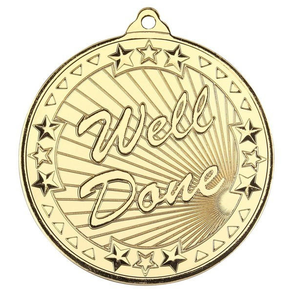 Well Done Tri Star Medal 50mm