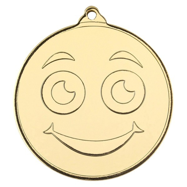 Smiley Face Gold Medal 50mm