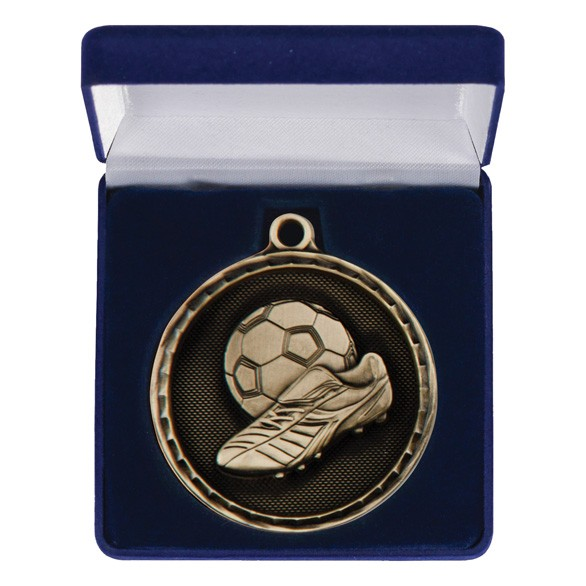 Power Boot Football Medal & Box