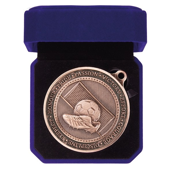 Olympia Football Boot Medal & Box
