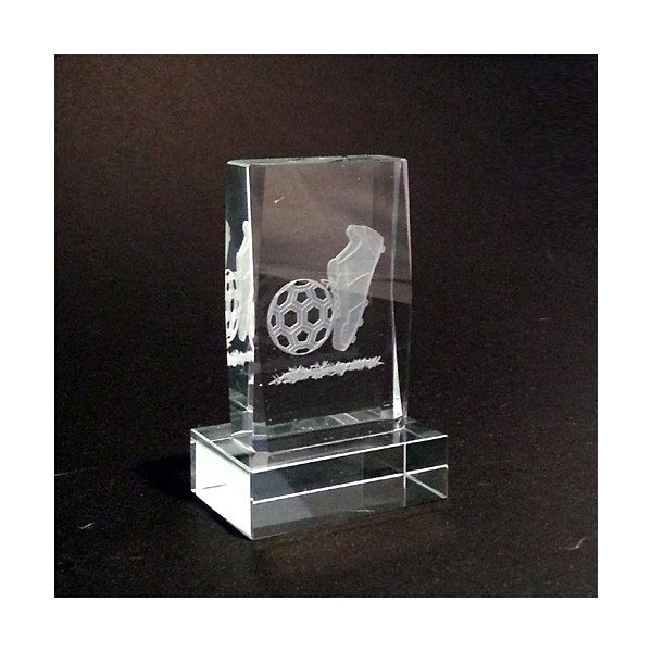 Football Award in Glass with stand