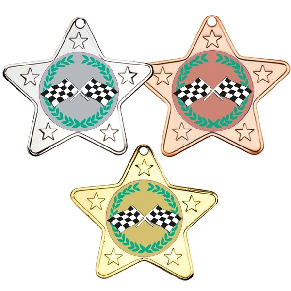 Motorsport Star Shaped Medals